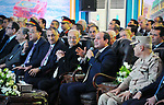 Egyptian President Abdel Fattah al-Sisi speaks during an official ceremony for the inauguruation of the offshore Zohr gas field in the northern Suez canal city of Port Said on January 31, 2018. At the ceremony attended by Sisi, Petroleum Minister Tarek al-Molla said the country expected to save $2.8 billion annually by ceasing to import liquified natural gas following production from the field discovered in 2015 by Italian energy giant Eni, with an initial 350 million cubic feet (10 million cubic metres) a day. Photo by Egyptian President Office