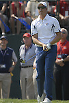 European Team player Henrik Stenson drives off on the 1st tee during the Singles on the Final Day of the Ryder Cup at Valhalla Golf Club, Louisville, Kentucky, USA, 21st September 2008 (Photo by Eoin Clarke/GOLFFILE)
