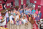 RUBY ANNIVERSARY: Denis and Hana O'Shea, Keel Castlemaine (seated centre) enjoying a great time celebrating their 40th wedding anniversary with family and friends at O'Donnell's restaurant and bar, Tralee on Friday.