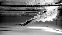 Warmups during the Swimming New Zealand Short Course Championships,Owen G Glenn National Aquatic Centre, Auckland, New Zealand, Wednesday 4 October 2017. Photo: Simon Watts/www.bwmedia.co.nz