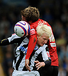 Darlington's Clarke Keltie and Rochdale's David Perkins during the League Two playoff match at The Spotland, Stadium, Rochdale. Picture date 10th May 2008. Picture credit should read: Simon Bellis/Sportimage