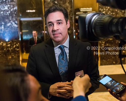 United States Representative Ra&uacute;l Labrador (Republican of Idaho) speaks with the press in the lobby of Trump Tower in New York, NY, USA following his meeting with US President-elect Donald Trump on December 12, 2016. <br /> Credit: Albin Lohr-Jones / Pool via CNP