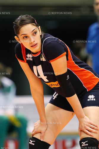 Djouad Fatma Zahra (ALG), .NOVEMBER 18, 2011 - Volleyball : .FIVB Women's World Cup 2011 .4th Round .between Algeria 0-3 Serbia .at Tokyo Metropolitan Gymnasium, Tokyo, Japan. .(Photo by YUTAKA/AFLO SPORT) [1040]