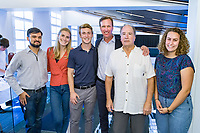 (Photo by Don Milici, Freelance Photographer)<br /> <br /> As part of Occidental College's Homecoming & Family Weekend, photo of Shearer Conference Room Dedication and Ribbon Cutting. Named after Derek Shearer, Stuart Chevalier Professor, Diplomacy and World Affairs with <br /> speakers: Professor Derek Shearer, Ian McKinnon '89, President Jonathan Veitch. Friday, Oct. 18, 2019 at Johnson Hall, room 201.<br /> <br /> (Photo by Don Milici, Freelance Photographer)