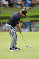 Charley Hoffman (USA) putts on the 16th green during Sunday's Final Round of the WGC Bridgestone Invitational 2017 held at Firestone Country Club, Akron, USA. 6th August 2017.<br /> Picture: Eoin Clarke | Golffile<br /> <br /> <br /> All photos usage must carry mandatory copyright credit (&copy; Golffile | Eoin Clarke)