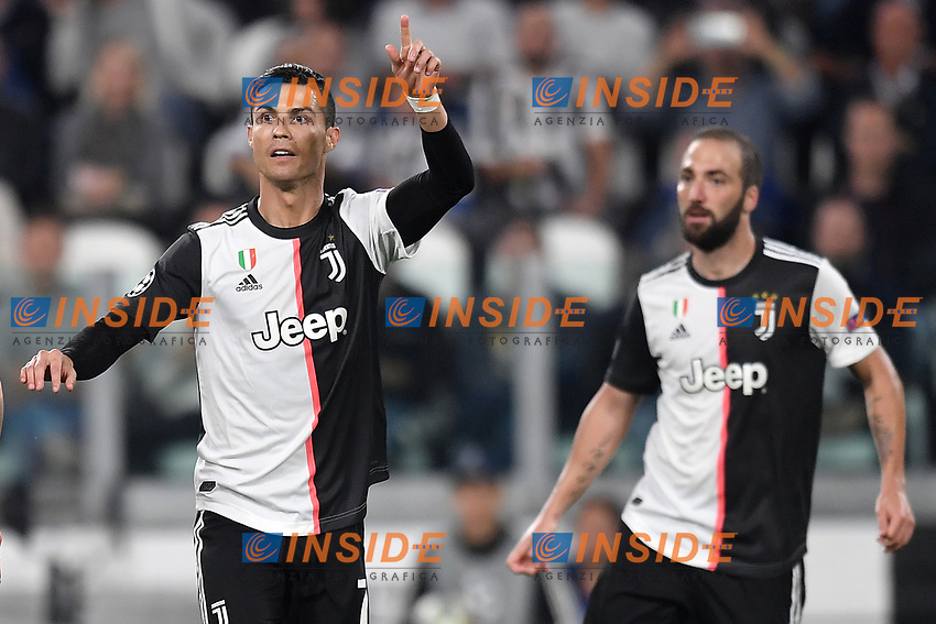 Cristiano Ronaldo , Gonzalo Higuain of Juventus <br /> Torino 01/10/2019 Juventus Stadium <br /> Football Champions League 2019//2020 <br /> Group Stage Group D <br /> Juventus - Leverkusen <br /> Photo Andrea Staccioli / Insidefoto