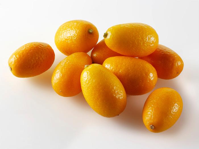 Fresh whole Kumquats or cumquats Citrus Fruit