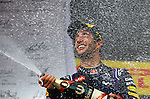 Podium - Daniel Ricciardo (AUS)  Red Bull Racing<br /> for the complete Middle East, Austria & Germany Media usage only<br />  Foto © nph / Mathis