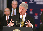 "Washington, DC - February 10, 2000 -- U.S. President Bill Clinton speaks in the Great Hall of the Library of Congress on the Democrat's ""Families First"" agenda on 10 February, 2000.<br /> Credit: Ron Sachs / CNP"