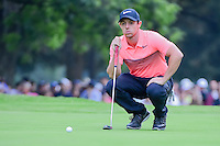 Rory McIlroy (IRL) lines up his putt on 18 during round 3 of the World Golf Championships, Mexico, Club De Golf Chapultepec, Mexico City, Mexico. 3/4/2017.<br /> Picture: Golffile | Ken Murray<br /> <br /> <br /> All photo usage must carry mandatory copyright credit (&copy; Golffile | Ken Murray)