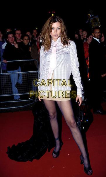 CATALINA.tie, legs, mini-skirt.Ref: 6707 .www.capitalpictures.com.sales@capitalpictures.com.© Capital Pictures