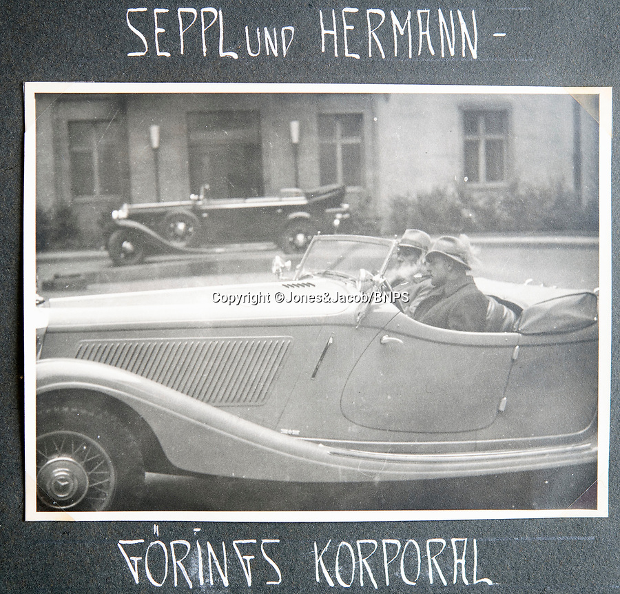 BNPS.co.uk (01202 558833)<br /> Pic: Jones&Jacob/BNPS<br /> <br /> LSSAH boss Sepp Dietrich(front) and Herman Goering in a Mercedes sportscar.<br /> <br /> Springtime for Hitler...Chilling album of pictures taken by one of Hitlers bodyguards illustrates the Nazi dictators rise to power.<br /> <br /> An unseen album of photographs taken by a member of Hitlers own elite SS bodyguard division in the years leading up to the start of WW2.<br /> <br /> The 1st SS Panzer Division 'Leibstandarte SS Adolf Hitler' or LSSAH began as Adolf Hitler's personal bodyguard in the 1920's responsible for guarding the Führer's 'person, offices, and residences'.