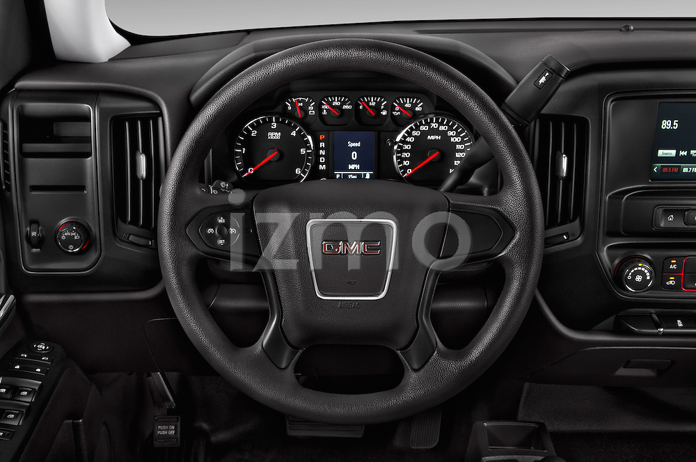 Car pictures of steering wheel view of a 2016 GMC Sierra 1500 2WD Double Cab Standard Box SLE 4 Door Pick-up Steering Wheel