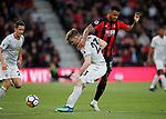 Luke Shaw of Manchester United tackles Joshua King of Bournemouth during the premier league match at the Vitality Stadium, Bournemouth. Picture date 18th April 2018. Picture credit should read: David Klein/Sportimage