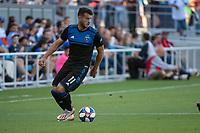 San Jose, CA - Saturday August 03, 2019: Vako Qazaishvili #11 in a Major League Soccer (MLS) match between the San Jose Earthquakes and the Columbus Crew at Avaya Stadium.