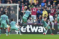Declan Rice of West Ham United heads over during West Ham United vs Arsenal, Premier League Football at The London Stadium on 12th January 2019