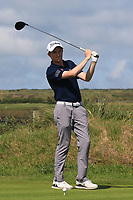 Ronan Mullarney (Galway) on the 7th tee during the Final of the AIG Irish Amateur Close Championship 2019 in Ballybunion Golf Club, Ballybunion, Co. Kerry on Wednesday 7th August 2019.<br /> <br /> Picture:  Thos Caffrey / www.golffile.ie<br /> <br /> All photos usage must carry mandatory copyright credit (© Golffile | Thos Caffrey)