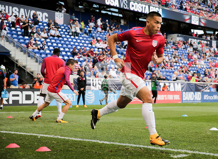 Harrison, N.J. - Friday September 01, 2017: Bobby Wood during a 2017 FIFA World Cup Qualifying (WCQ) round match between the men's national teams of the United States (USA) and Costa Rica (CRC) at Red Bull Arena.