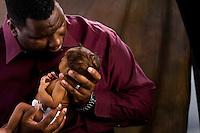 Newborn photos of Jackson Powell. The son of Jamal and Tiffany Powell, at Visual Statements Photography Studio, in Atlanta, GA.