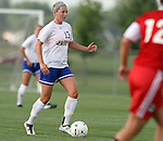 BROOKINGS, SD - AUGUST 16:  Darci Miller #13 from South Dakota State University controls the ball against Winnipeg in the first half of their game Friday evening at Fischback Soccer Field in Brookings. (Photo by Dave Eggen/Inertia)