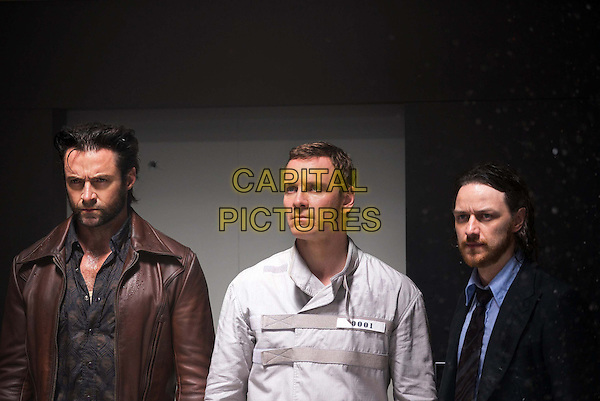 Hugh Jackman, Michael Fassbender, James McAvoy<br /> in X-Men: Days of Future Past (2014) <br /> *Filmstill - Editorial Use Only*<br /> CAP/NFS<br /> Image supplied by Capital Pictures
