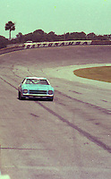 Lennie Pond races off turn 4 at the Firecracker 400 at Daytona International Speedway in Daytona Beach, Florida on July 4, 1977. (Photo by Brian Cleary/www.bcpix.com)