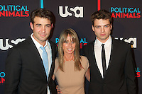 James Wolk and Sebastian Stan with Bonnie Hammer at the screening of USA Network's 'Political Animals' at the Morgan Library & Museum in New York City. June 25, 2012. © Ronald Smits/MediaPunch Inc. *NORTEPHOTO* **SOLO*VENTA*EN*MEXICO** **CREDITO*OBLIGATORIO** **No*Venta*A*Terceros** **No*Sale*So*third** *** No*Se*Permite Hacer Archivo** **No*Sale*So*third** *Para*más*información:*email*NortePhoto@gmail.com*web*NortePhoto.com*