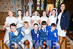 Gaelscoil Lios Tuathail NS students received their First Holy Communion in St Michaels Church Listowel on Saturday.
