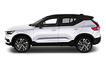 Car Driver side profile view of a 2019 Volvo XC40 R-Design 5 Door SUV Side View