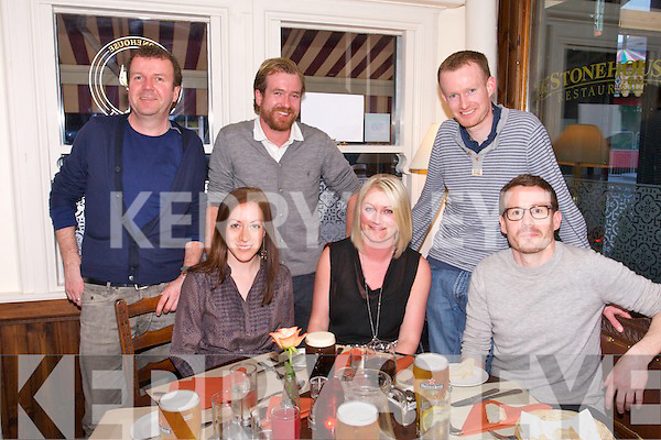 Lelia Fazal, Elaine Crowley, Paul Crowley, Danny Crowley, Noel Crowley, Tim Crowley - Castleisland on a Easter get together at the Stone House on Saturday