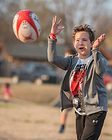 NWA Democrat-Gazette/ANTHONY REYES @NWATONYR<br /> Rugby players Wednesday March 8, 2017 at the Tyson Sports Complex. Youth rugby teams have been together through Springdale Parks and Recreation.