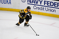 June 12, 2019: Boston Bruins left wing Brad Marchand (63) in game action during game 7 of the NHL Stanley Cup Finals between the St Louis Blues and the Boston Bruins held at TD Garden, in Boston, Mass.  The Saint Louis Blues defeat the Boston Bruins 4-1 in game 7 to win the 2019 Stanley Cup Championship.  Eric Canha/CSM.