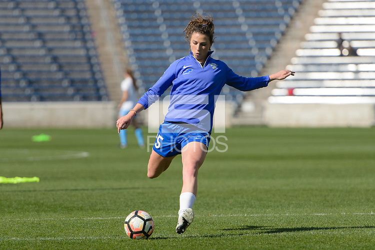 Bridgeview, IL - Sunday May 14, 2017: Morgan Andrews during a regular season National Women's Soccer League (NWSL) match between the Chicago Red Stars and the Boston Breakers at Toyota Park. The match ended in a 1-1 tie.