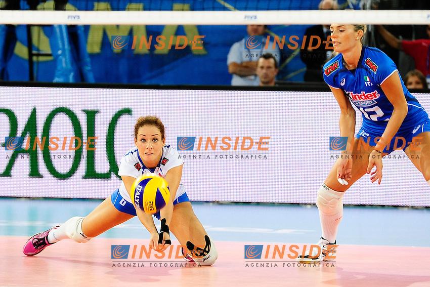 Italia vs Rep. Dominicana<br /> 6 Monica De Gennaro ITA<br /> FIVB Volleyball Women's World Championship Italy 2014 <br /> Rome 25-09-2014 Palaeur Foto F.Pasquali/Insidefoto