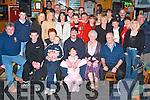 Surprise: Making the most of the night at his surprise 40th birthday in The Huddle Bar, Tralee (seated centre) on Saturday night was Pa Quirke of Oakpark Demesne, along with family and friends..