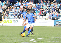 Connor Murray takes a free kick in the SPFL Ladbrokes Championship Play Off semi final match between Queen of the South and Montrose at Palmerston Park, Dumfries on  11.5.19.