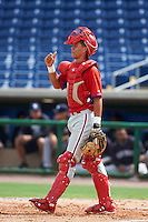 Philadelphia Phillies Nerluis Martinez (11) during an instructional league game against the New York Yankees on September 29, 2015 at Brighthouse Field in Clearwater, Florida.  (Mike Janes/Four Seam Images)