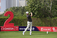 Richard McEvoy (ENG) on the 2nd tee during Round 1 of the Omega Dubai Desert Classic, Emirates Golf Club, Dubai,  United Arab Emirates. 24/01/2019<br /> Picture: Golffile | Thos Caffrey<br /> <br /> <br /> All photo usage must carry mandatory copyright credit (&copy; Golffile | Thos Caffrey)