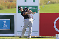 Ricardo Gouveia (POR) tees off the 11th tee during Thursday's Round 1 of the 2016 Portugal Masters held at the Oceanico Victoria Golf Course, Vilamoura, Algarve, Portugal. 19th October 2016.<br /> Picture: Eoin Clarke   Golffile<br /> <br /> <br /> All photos usage must carry mandatory copyright credit (© Golffile   Eoin Clarke)