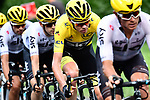 The peloton including Yellow Jersey Chris Froome (GBR) Team Sky in action during Stage 10 of the 104th edition of the Tour de France 2017, running 178km from Perigueux to Bergerac, France. 11th July 2017.<br /> Picture: ASO/Alex Broadway | Cyclefile<br /> <br /> <br /> All photos usage must carry mandatory copyright credit (&copy; Cyclefile | ASO/Alex Broadway)