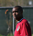 Eddie Pope on Monday, April 10th, 2006 at SAS Stadium in Cary, North Carolina. The United States Men's National Team practiced the day before playing an international friendly against Jamaica.