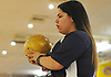 Amanda Petrillo of MacArthur gets ready to roll during a Nassau County girls bowling match against Levittown Division at Levittown Lanes on Wednesday, Jan. 3, 2018. She bowled a 602 series with a high game of 220.