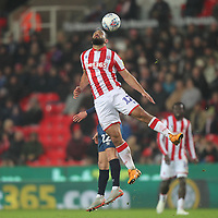 Blackburn Rovers Lewis Holtby jumps with Stoke City's Cameron Carter-Vickers <br /> <br /> Photographer Mick Walker/CameraSport<br /> <br /> The EFL Sky Bet Championship - Stoke City v Blackburn Rovers - Saturday 30th November 2019 - bet365 Stadium - Stoke-on-Trent<br /> <br /> World Copyright © 2019 CameraSport. All rights reserved. 43 Linden Ave. Countesthorpe. Leicester. England. LE8 5PG - Tel: +44 (0) 116 277 4147 - admin@camerasport.com - www.camerasport.com
