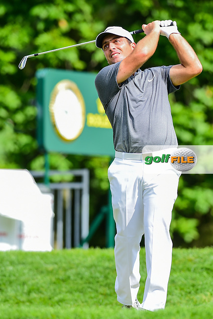 Francesco Molinari (ITA) watches his tee shot on 10 during round 2 of the 2016 Quicken Loans National, Congressional Country Club, Bethesda, Maryland, USA. 6/24/2016.<br /> Picture: Golffile | Ken Murray<br /> <br /> <br /> All photo usage must carry mandatory copyright credit (&copy; Golffile | Ken Murray)