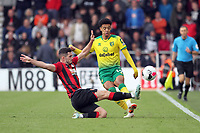 Adam Smith of Bournemouth jumps to block the ball from Jamal Lewis of Norwich City during the Premier League match between Bournemouth and Norwich City at Goldsands Stadium on October 19th 2019 in Bournemouth, England. (Photo by Mick Kearns/phcimages.com)<br /> Foto PHC/Insidefoto <br /> ITALY ONLY