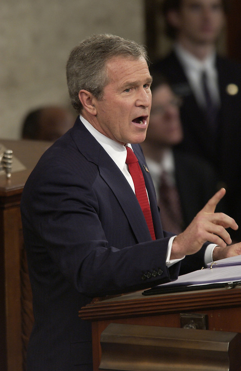 President George W. Bush during his State of the Union Address.