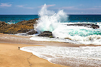Waves Crashing On The Beach In Laguna Beach California
