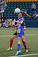Rochester, NY - Friday May 27, 2016: Boston Breakers defender Julie King (8), Western New York Flash forward Lynn Williams (9). The Western New York Flash defeated the Boston Breakers 4-0 during a regular season National Women's Soccer League (NWSL) match at Rochester Rhinos Stadium.