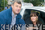 TEST: Marie Dennehy (right) from Tralee who passed her driving test on Friday last thanks to the help of her instructor, Paudie McKenna (left)..   Copyright Kerry's Eye 2008