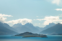 Lake Wakatipu with views toward Glenorchy and Mt. Aspiring National Park, UNESCO World Heritage Area, New Zealand, NZ
